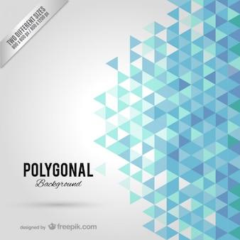 Fond polygonal Bleu