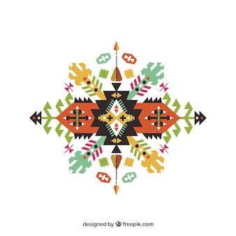 forme géométrique dans un style ethnique