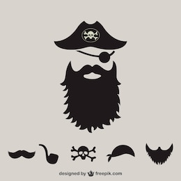 Fournitures de pirates silhouette