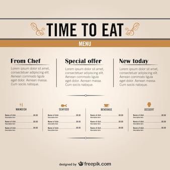 Restaurants libre menus graphiques