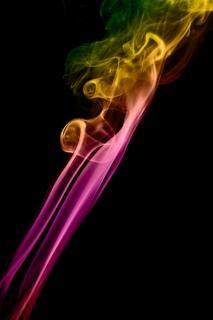 Fumée vague courbe lisse