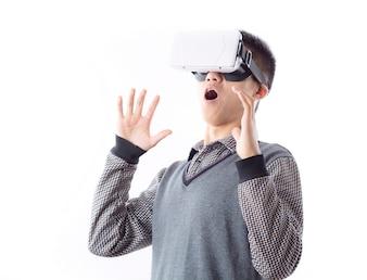 Gadget futuriste activité d'expression entreprise