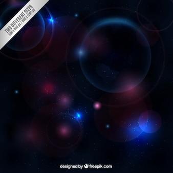 Galaxy fond dans le style de bokeh