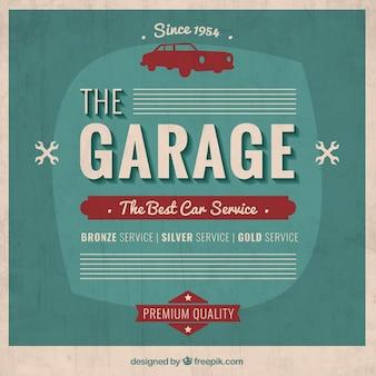 Garage affiche dans le style rétro