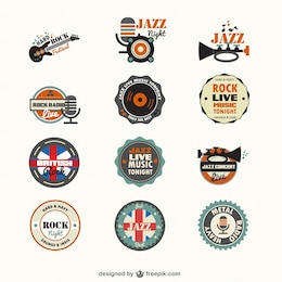 Genres de musique de badges gratuits