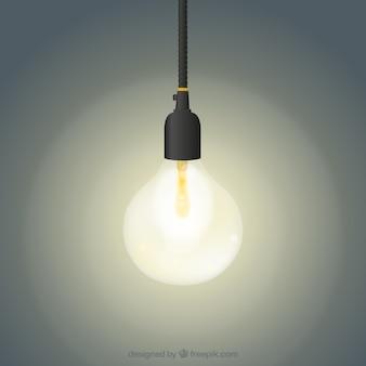 Glowing ampoule