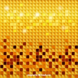 Golden background mosaïque