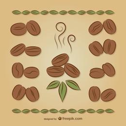 Grains de café dessins