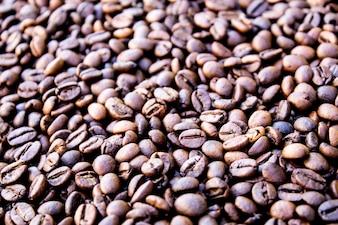 Grains de café rôti, peut être utilisé en arrière-plan