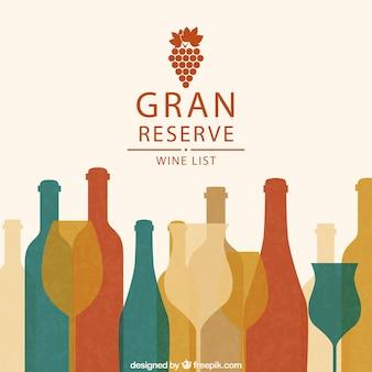 Grande liste de réserve de vin