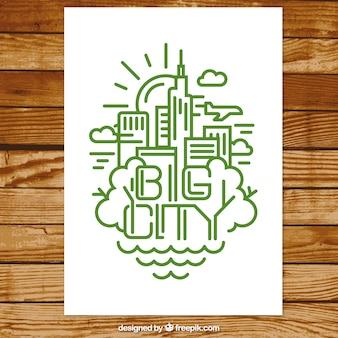 Grandes icônes de la ville dépliant