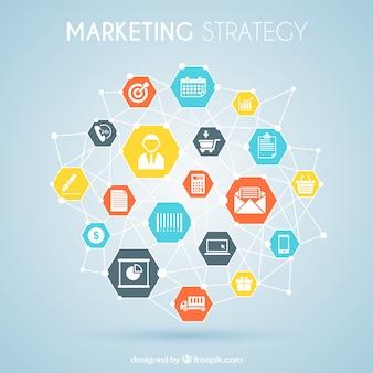 graphique de la stratégie de marketing