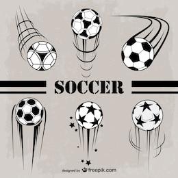 Graphiques de football vecteur libre