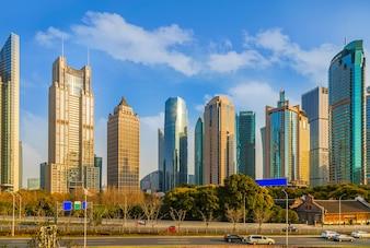 Gratte-ciel chinois attraction financière Chine rivière