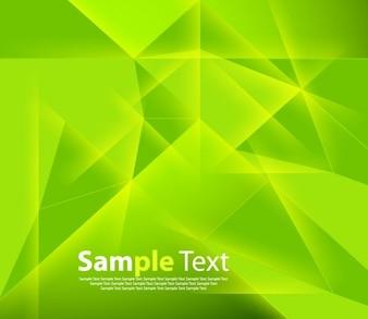 Vert abstrait géométrique vecteur de fond