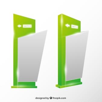 Green abstract signalisation