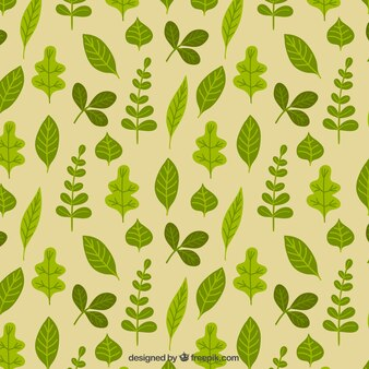Green leaves motif