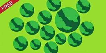 Vert sphères rugueuses fond
