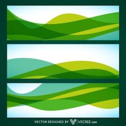 Green Waves Résumé Étiquettes