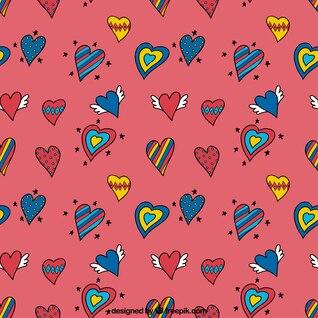 griffonnages de dessin de coeur