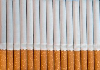 Gros plan de cigarettes de tabac Fond ou texture