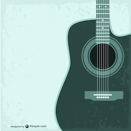 Guitare sans modèle vectoriel
