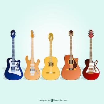 Guitares vecteur pack gratuit