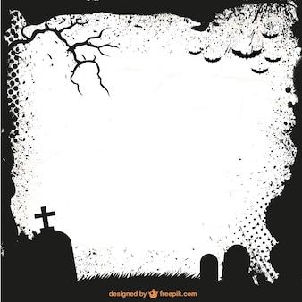 Halloween cadre silhouette template vecteur