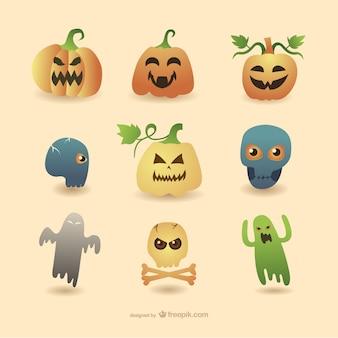 Halloween dessins animés collection
