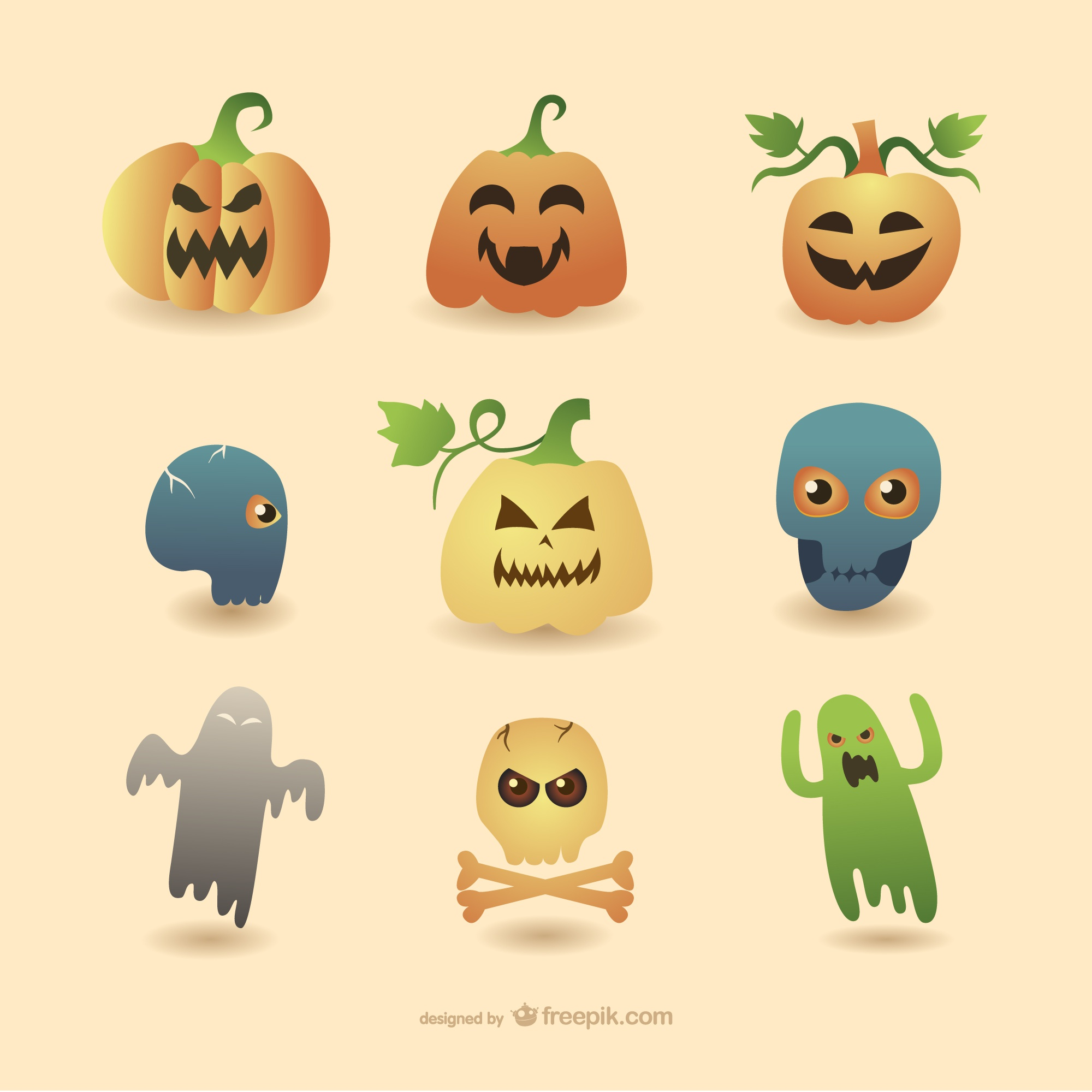 Halloween dessins animés collection