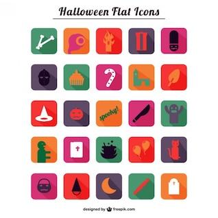 Halloween icônes Flat Pack