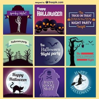 Invitations de Halloween collection d'art