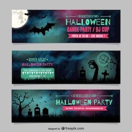 Halloween party de danse modèles de bannières
