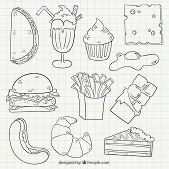 Hand drawn restauration rapide