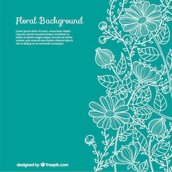 Hand drawn fond floral