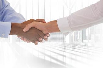 Handshake avec les deux mains