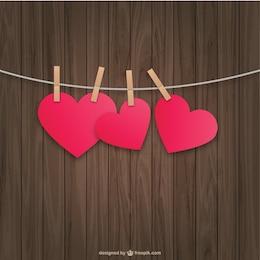 Hanging coeurs