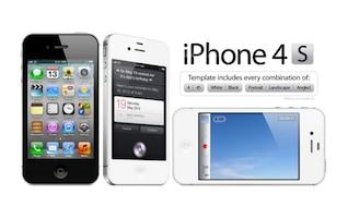 Haute Résolution iPhone 4/4S PSD Template