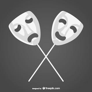 Heureux masques vectoriels tristes