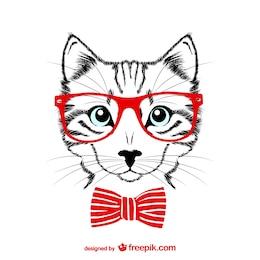 Hippie chat illustration vectorielle