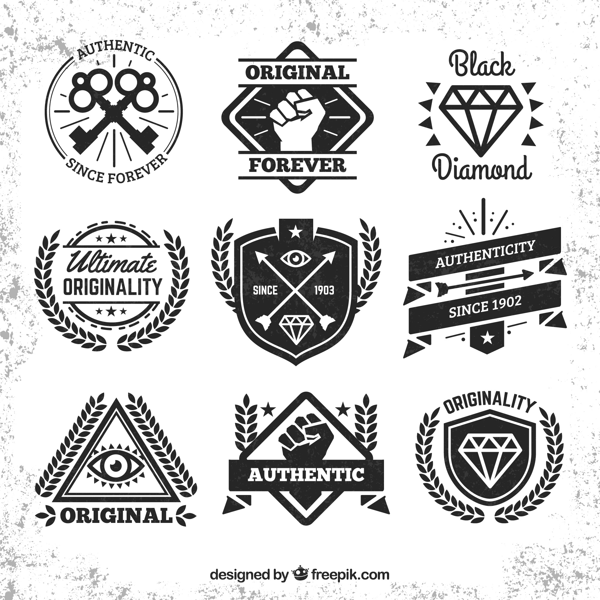 Hipster insignes collection