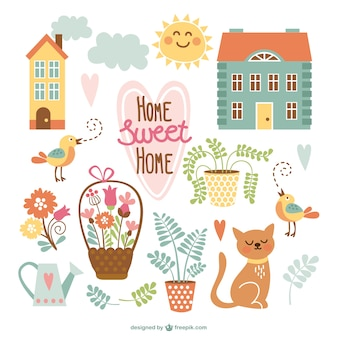 Home Sweet Home mignons dessins animés