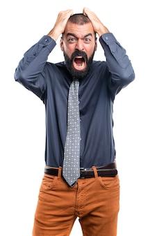 Homme frustré