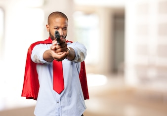 Homme noir héros expression de colère