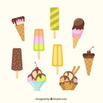 collecte des crèmes glacée