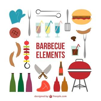 Icônes barbecue de pique-nique