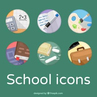 Icônes colorées scolaires