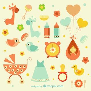 Icônes de bébé girly