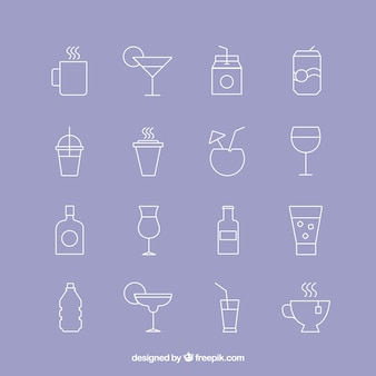 icônes de boissons
