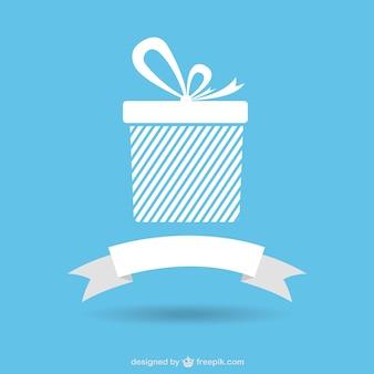 icônes de cadeau avec un ruban bannière